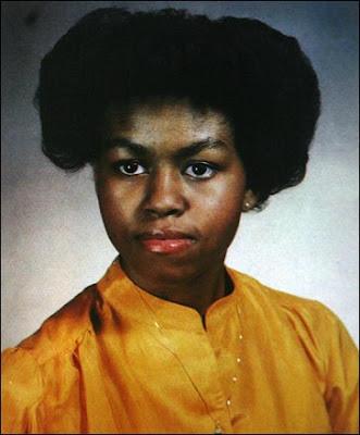 Foto de Michelle Obama con cabello ondulado