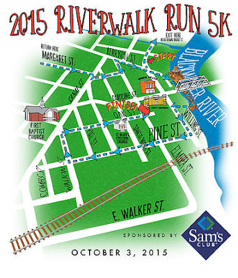 Riverwalk Run 5K T-Shirt design