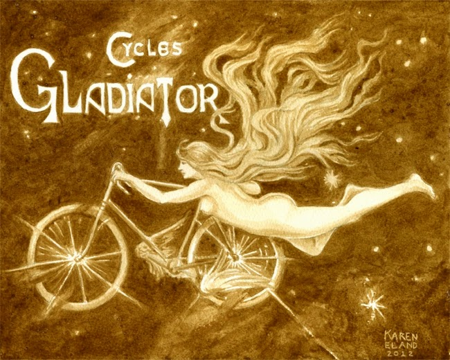 19-Gladiator-Cycles-Karen Eland-Vintage-Looking-Beer-and-Water-Paintings-www-designstack-co
