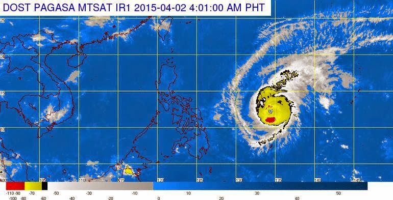 Typhoon Chedeng PAGASA Weather Update April 2, 2015