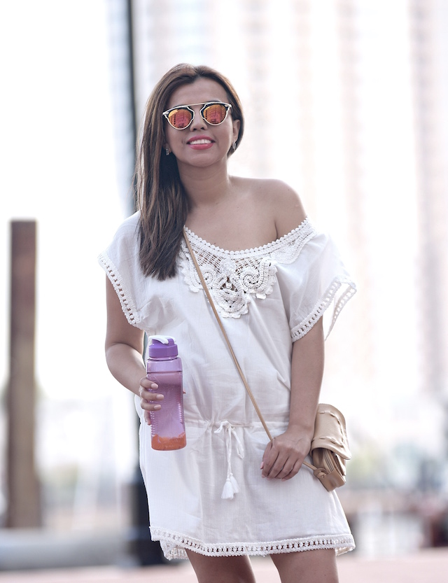 Keaton Tunic by Stella Dots Breezy and boho, this cute crochet tunic is perfect for summer! #MariEstilo