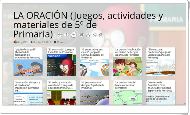 """""""11 juegos, actividades y materiales para el estudio de LA ORACIÓN en 5º de Primaria"""""""