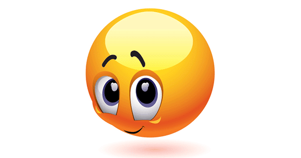 Shy emoticon