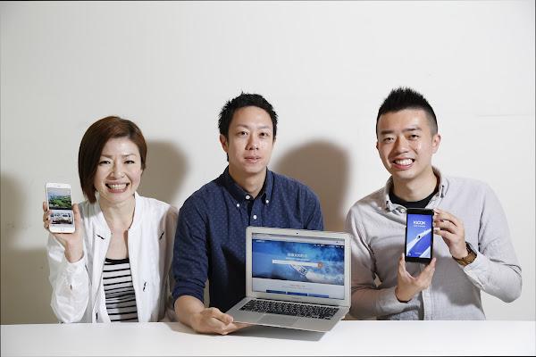 圖說:左起為客路業務拓展楊婉玉、共同創辦人王志豪、公關行銷劉冠宏。攝影:侯俊偉。