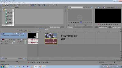 Cara mengecrop video melalui editing Vegas Pro. untuk Pemula