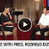 Watch: President Duterte One On One Interview with CNN Philippines [FULL]