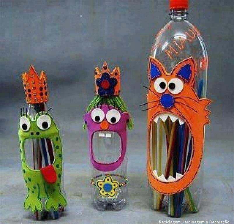 Membuat kerajinan tangan dari botol bekas  511102624a