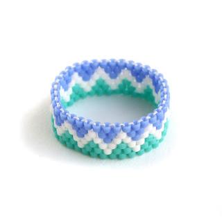 яркое этнические кольца купить в интернет магазине изделий из бисера россия