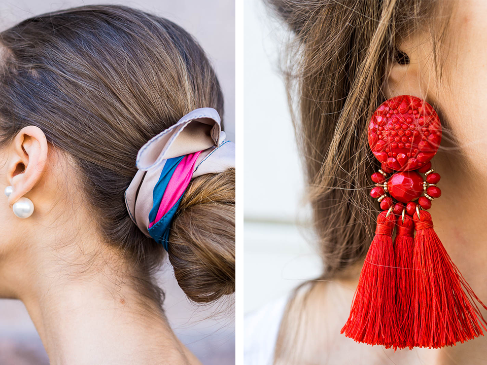 summer-wardrobe-staples-fashion-blogger-accessories-silk-skarf-tassel-earrings