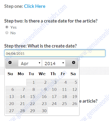 Finding date in the given article task