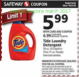 Tide coupons march 2017