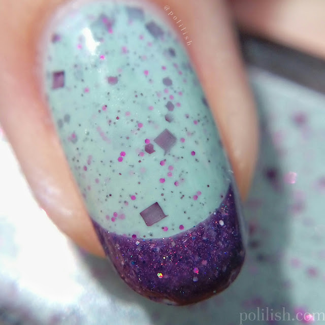 Easy French tip nails with Cadillacquer 'Apricity' and 'Valhalla', by polilish