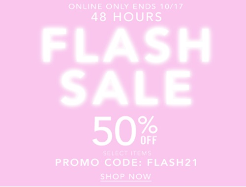 Forever 21 Flash Sale 50% Off Select Items Promo Code