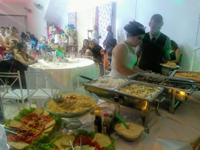 Comida em casamento