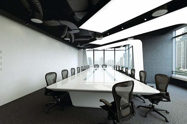 Desain 3D Ruang Meeting Kantor