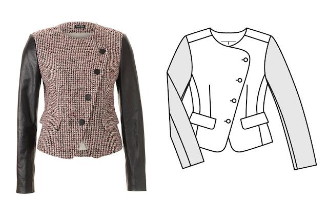 burda styl kasım 2017 ceket kalıbı