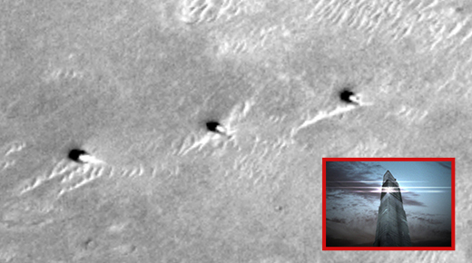 Nasa censura la imagen de las masivas 'Torres Alienígenas' visibles en la superficie de Marte