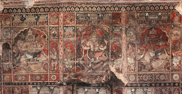 UNESCO World Heritage Sites in India - Hampi Frescoes in Virupaksha Temple