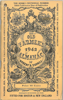 Cover of 1942 Old Farmer's Almanac