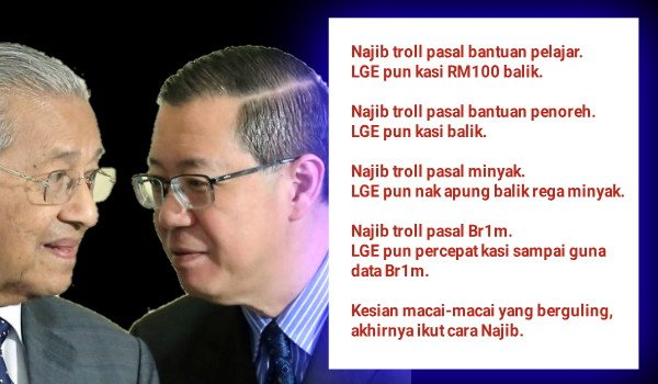 Semua keputusan yang dibuat rejim PH melibatkan kepentingan rakyat dilaksanakan selepas kena troll oleh Najib