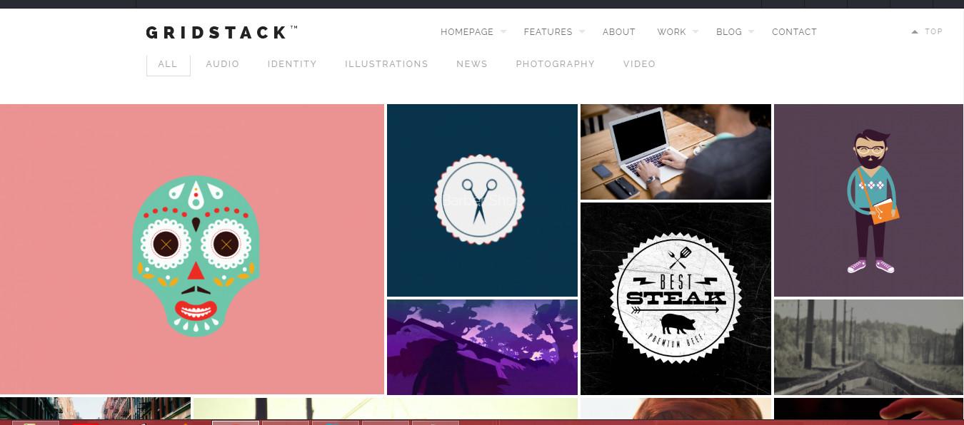GridStack- wordpress premium Grid theme