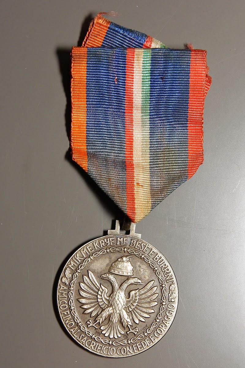 Medaglia commemorativa della 9° Armata della Campagna di Grecia e Jugoslavia in argento