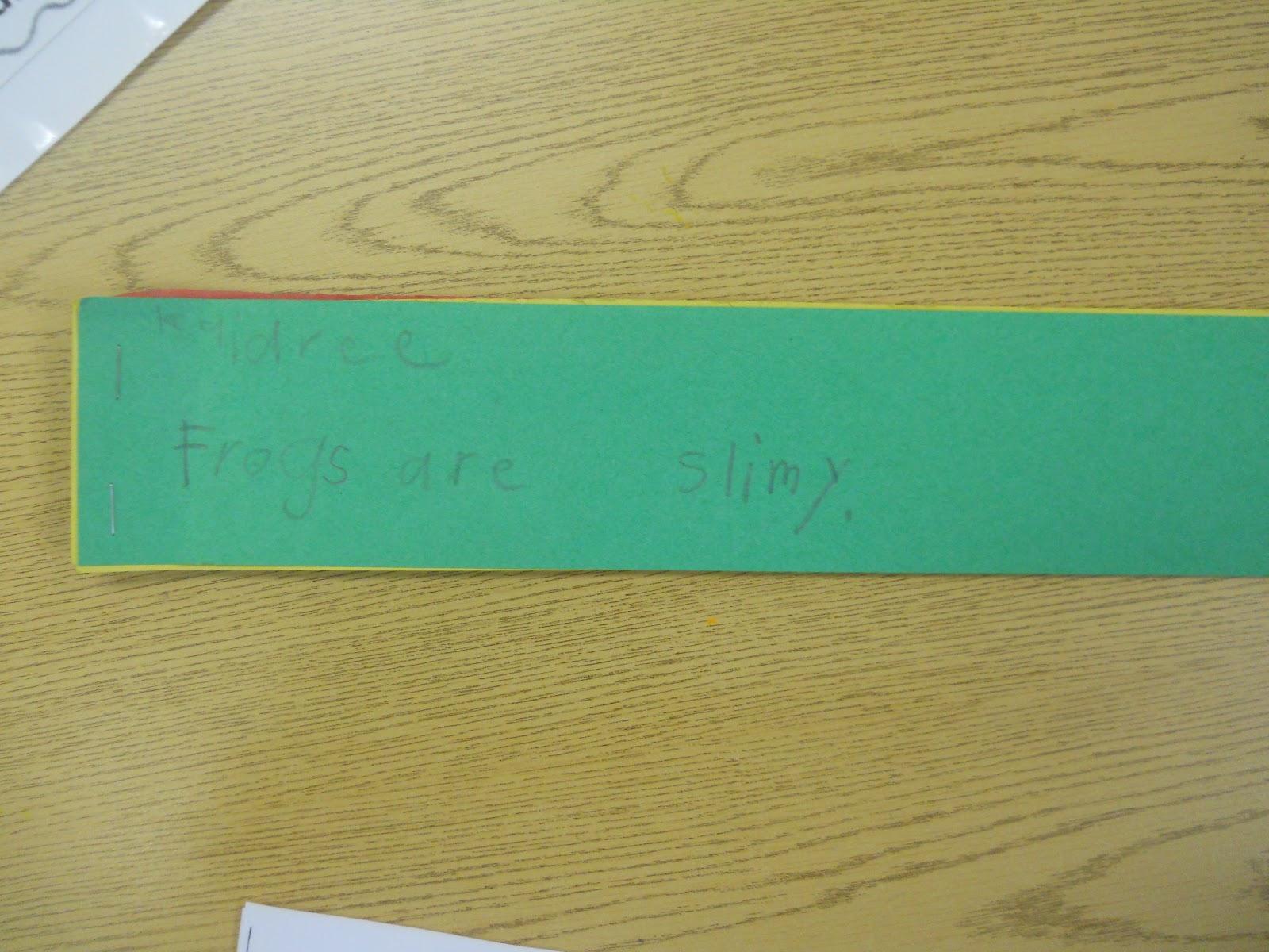 Mrs  T's First Grade Class: Frog Writing