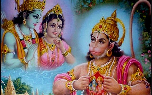 Best Hanuman With Lord Ram & Sita HD Wallpaper For MacBook