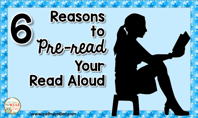 Make sure you pre-read your read aloud so you can get the most out of your reading time.  Here are 6 reasons for pre-reading those read alouds every time.