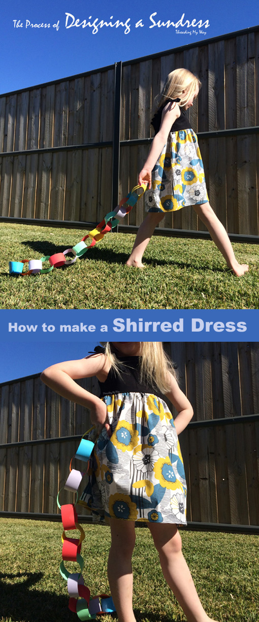 Learn how to make a sundress. Shirred Dress tutorial by Threading My Way.