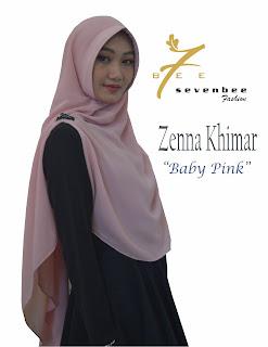 ZENNA KHIMAR BABY PINK