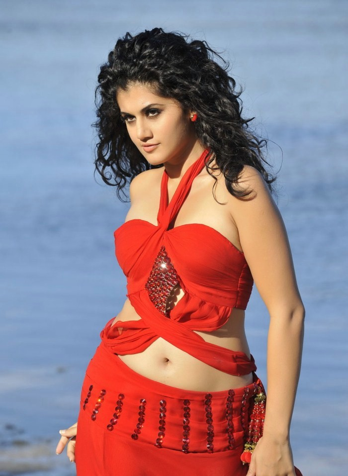 Tapsee hot in red dress