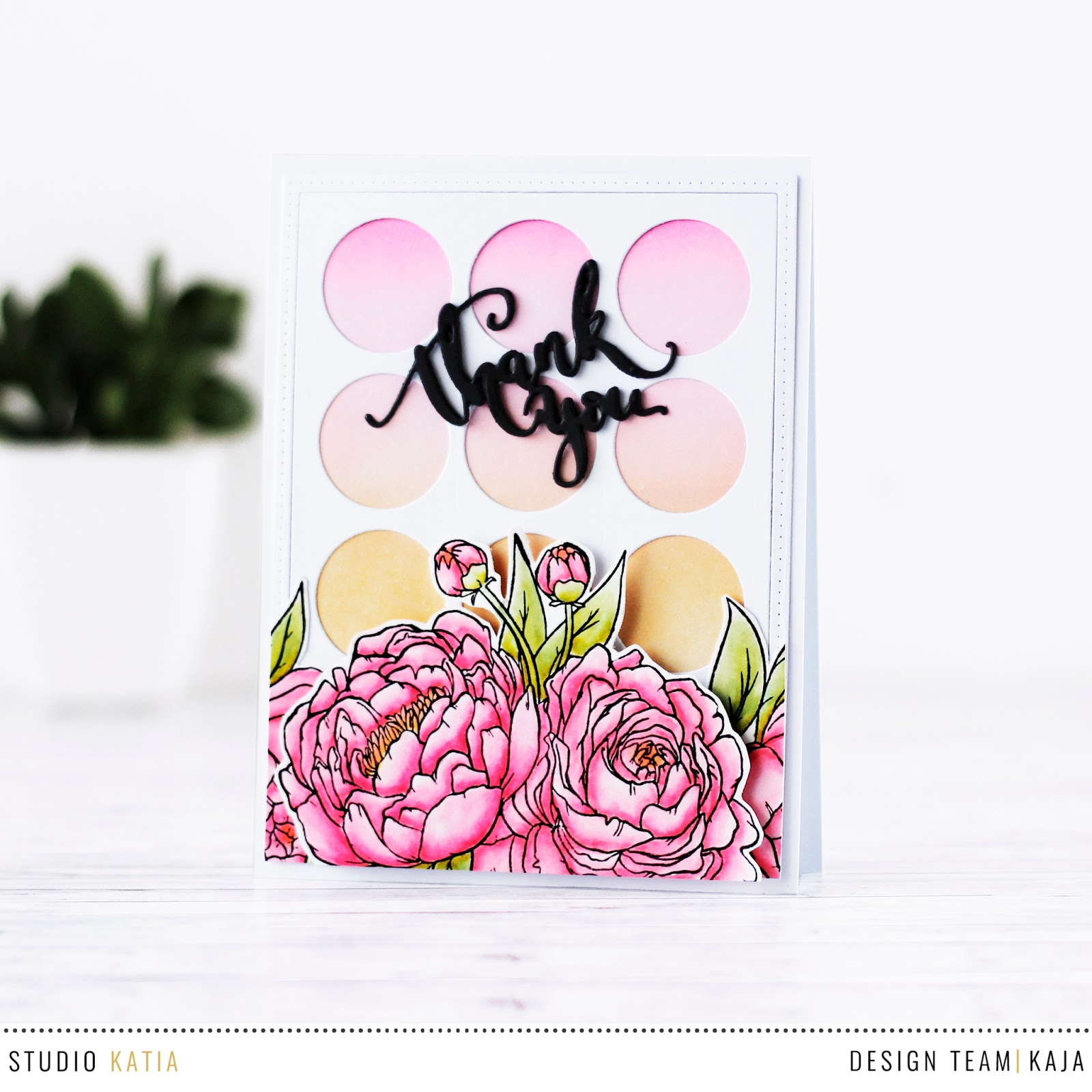 Floral thank you card | STUDIO KATIA