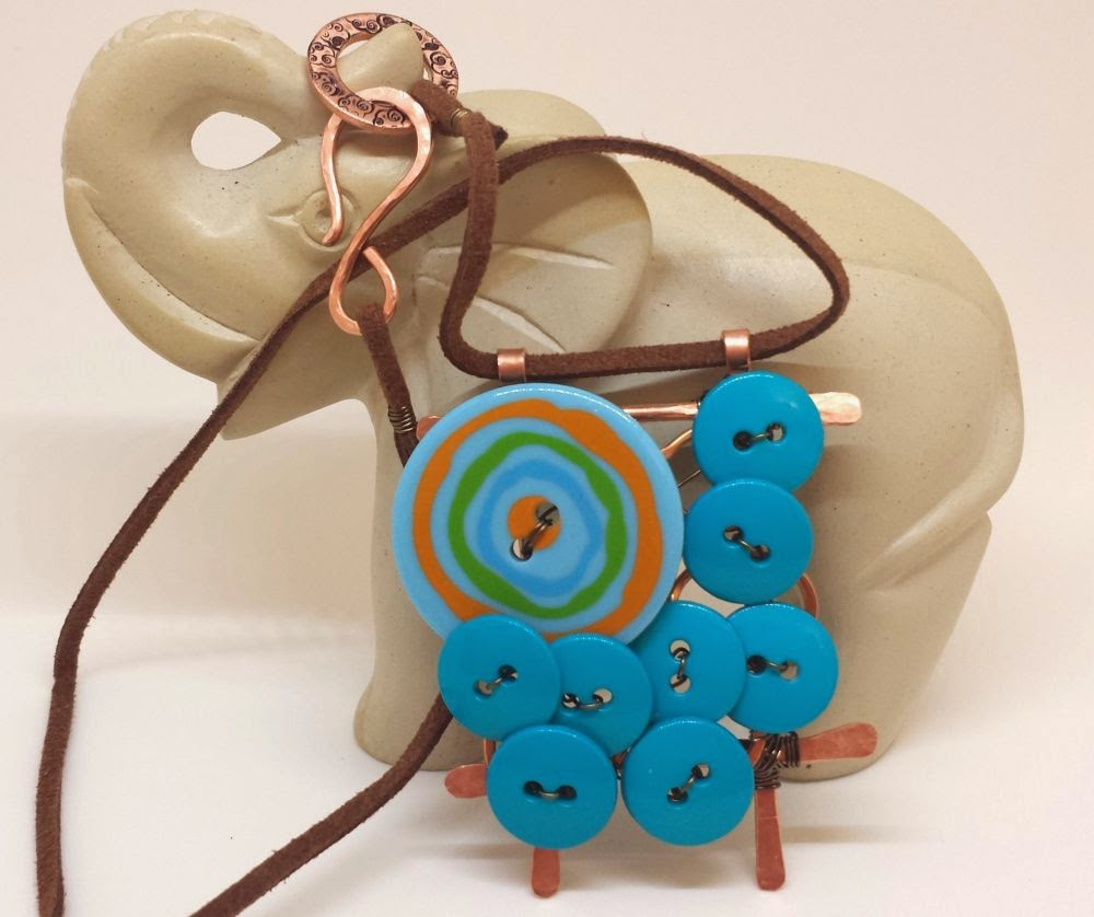 CC7A Spring Pastels: copper, wire working, buttons :: All Pretty Things