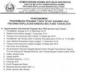 Penerimaan Pegawai Tidak Tetap Asrama Haji Provinsi Kepulauan Bangka Belitung Tahun 2018