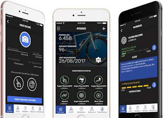 Screenshot della Campagnolo MyCampy app per iPhone e Android
