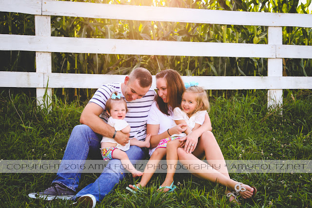 family photoshoot on farm