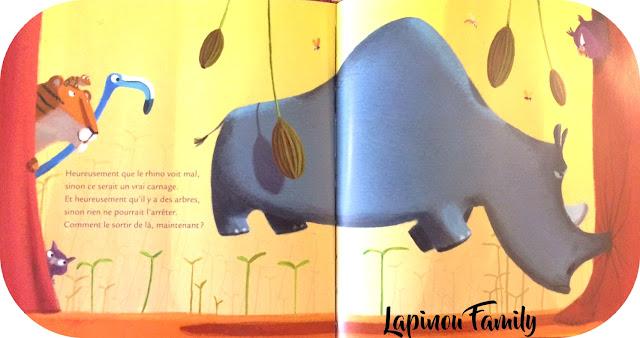 le rhinoceros qui louchait feroce