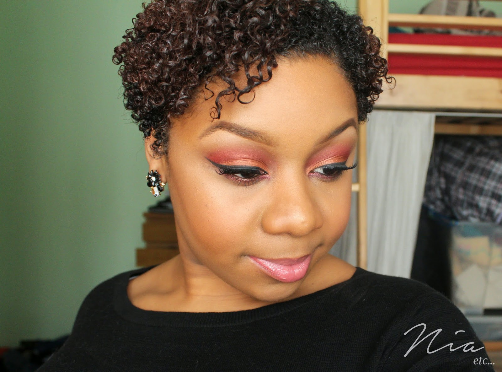 Summertime Orange and Red MakeUp Look 4