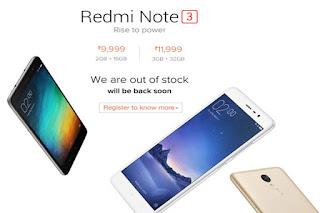 Xiaomi Redmi note 3 Cellphone Under 15,000 August 2016