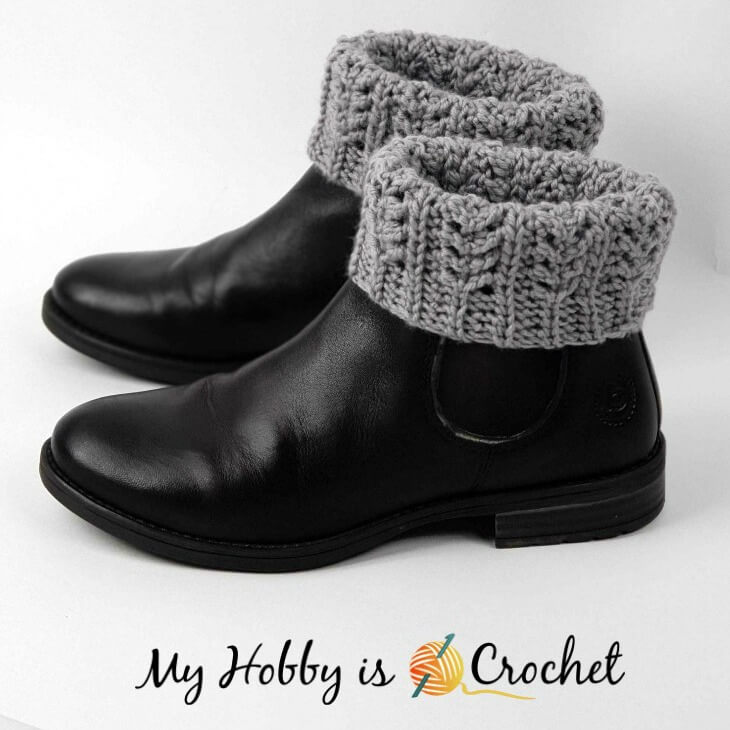 My Hobby Is Crochet Chic Aran Boot Cuffs Toppers Free Crochet