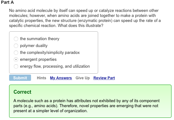 Mastering Biology Answers: Chapter 1 Pre-Test Question 2