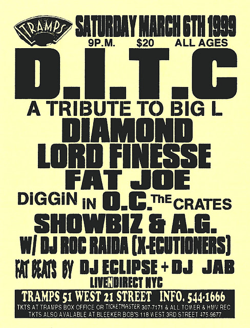 D.I.T.C. A Tribute to Big L Tramps NYC March 6, 1999