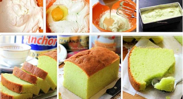 Resep Pandan Cake Hanya 5 Bahan, Lembut, Wangi dan Enak Banget