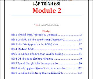 Chia sẻ bộ 3 module học lập trình IOS của Đại học Khoa học tự nhiên - Đại học Quốc Gia TP. HCM