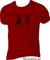 Shirt Disc Golf Ninja Putt
