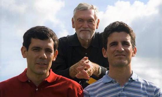 Fellowship of Friends cult leader Robert Earl Burton with loyal lieutenants Dorian Matei and Asaf Braverman