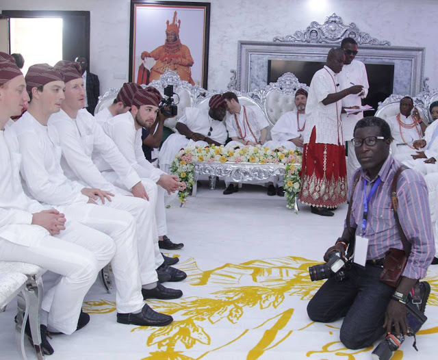 british family storm nigeria in traditional outfit to take