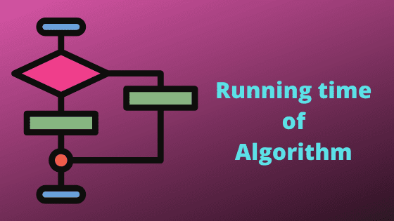 Calculate running time of an algorithm