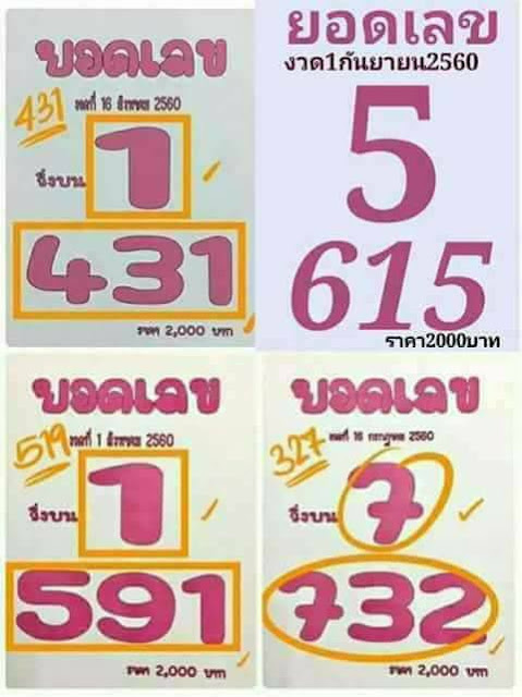 thai lotto results